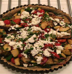 Ratatouille and Spinach Tart