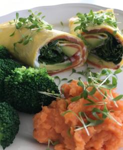 Egg Wrap with Smoked Salmon