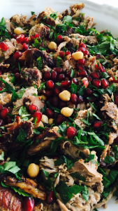 Slow Cooked Lamb Shoulder with Pomegranate, Chickpeas and Mint