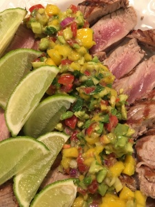 Seared Tuna with Mango and Avocado Salsa