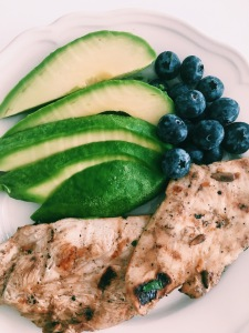 Chicken Breast with Avocado and Blueberries