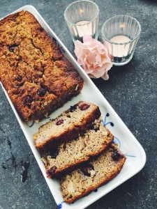 Banana Bread with Coconut and Blueberries