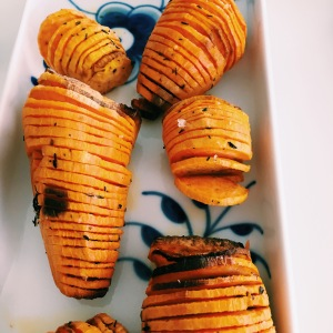 Hasselback Sweet Potatoes with Thyme