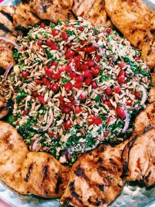 Cauliflower Couscous with Fresh Herbs and grilled Chicken