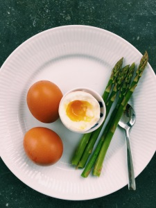 Soft Boiled Eggs with Asparagus