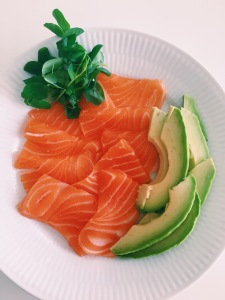 Salmon Sashimi with Avocado