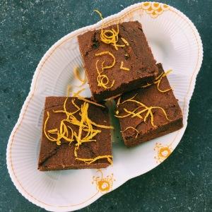 Sweet Potaoe Orange Chocolate Cake