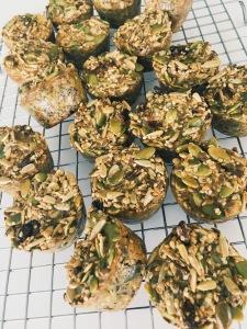 """Organic Paleo Muffin """"Bites"""" with Goji Berries and Hemp Seeds"""