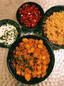 Moroccan Lamb Stew with Chickpeas, Ginger and turmeric